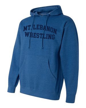 Royal Lebo Blue Devils Old School Wrestling Hoodie (Navy print)
