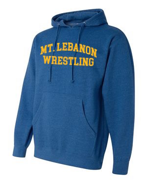 Royal Lebo Blue Devils Old School Wrestling Hoodie (Gold print)
