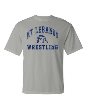 Performance Grey Lebo Wrestling Short Sleeve