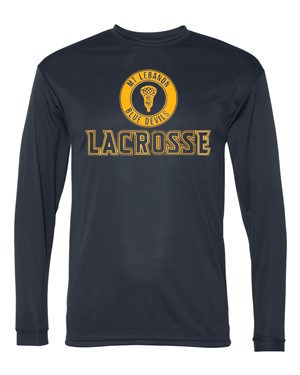 Navy Lebo Lax Long Sleeve DryFit (Design #2)