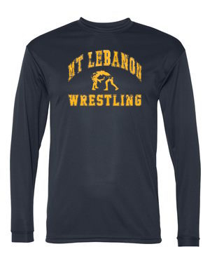 Navy Lebo Wrestling Performance Long Sleeve