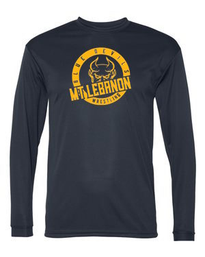 Navy Lebo Blue Devils Wrestling Performance Long Sleeve
