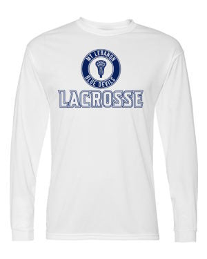 White Lebo Lax Long Sleeve DryFit (Design #2)