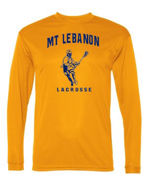 Gold Lebo Lax Long Sleeve DryFit (Design #1)