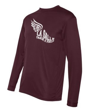 Maroon LSA Track Performance Long Sleeve #2