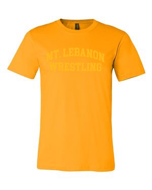 Gold Lebo Old School Wrestling Premium Tee (Gold Print)