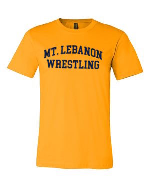 Gold Lebo Old School Wrestling Premium Tee (Navy Print)