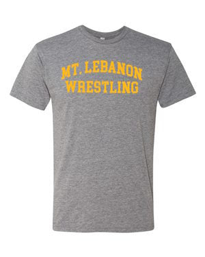 Grey Lebo Old School Wrestling Premium Tee (Gold Print)