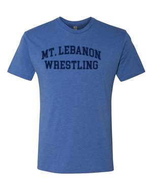 Royal Lebo Old School Wrestling Premium Tee (Navy Print)