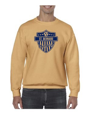 Chargers Soccer Crew Sweatshirt (Vegas Gold)