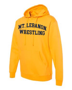 Gold Lebo Blue Devils Old School Wrestling Hoodie (Navy print)