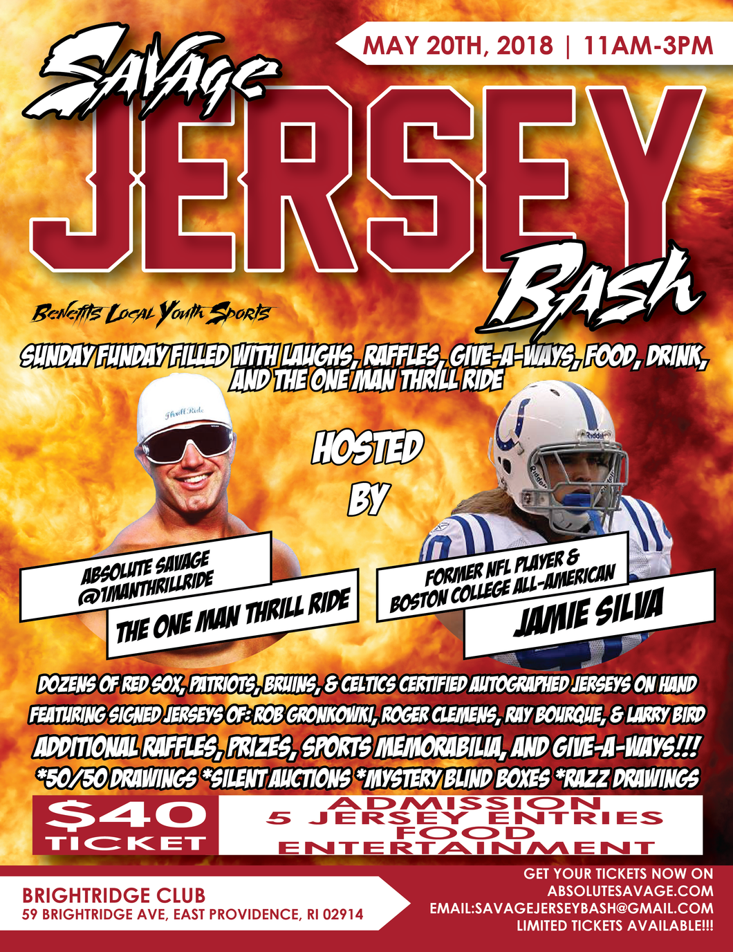 JERSEY BASH TICKET Hosted by ThrillRide and Jamie Silva: Absolute Savage