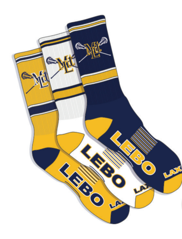 The Lebo Lax 3-Pack of Performance Socks