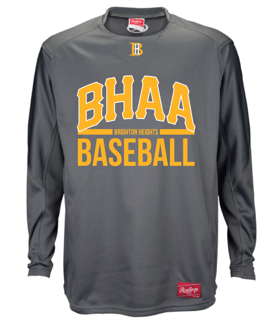BHAA Rawlings Dugout Shirt Grey