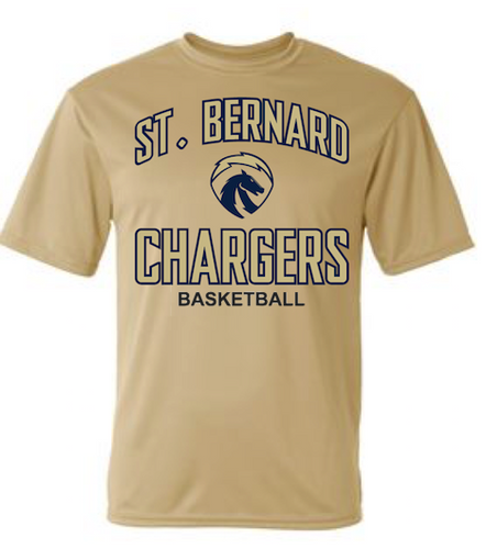 Chargers Gold Performance Shirt (Basketball)