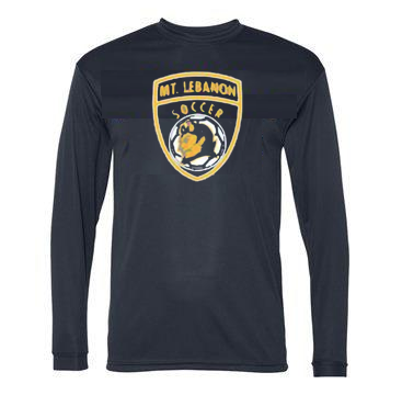 Navy Lebo Soccer Long Sleeve Performance #4