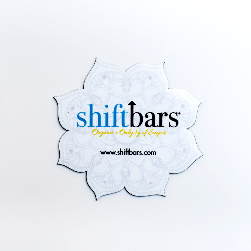 Logo Magnet for Shift Bars, the most delicious low-sugar, vegan and paleo-friendly healthy snack