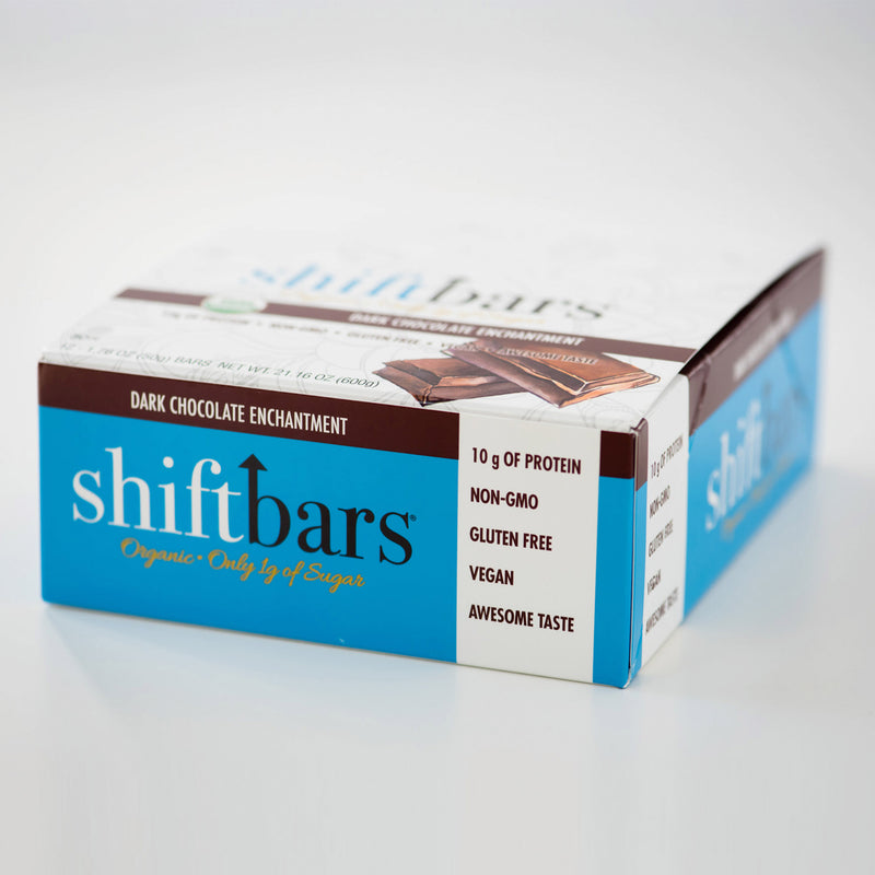 dark chocolate energy bar, low-sugar, vegan, high-protein, gluten-free snack