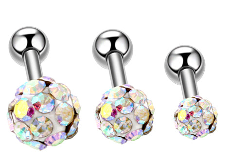 Ferido Ball Top Surgical Steel Cartilage Tragus Helix Barbell Studs
