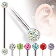 Ferido Multi CZ Balls Surgical Steel Industrial Barbells
