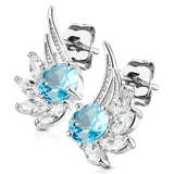Pair of CZ Angel Wing Surgical Steel Post Earring Studs