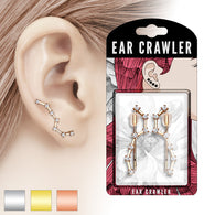 Pair of CZ Set Big Dipper Ear Crawler Ear Climber Earrings
