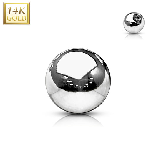 14Kt. Solid Gold Threaded Replacement Ball For Tragus Eyebrow Cartilage Labret