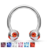 5 CZ set 4mm Balls Horseshoe Circular Barbells Helix Daith Tragus Smiley Piercing