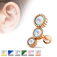Opal Ear Cartilage Helix Daith Tragus Studs Earrings