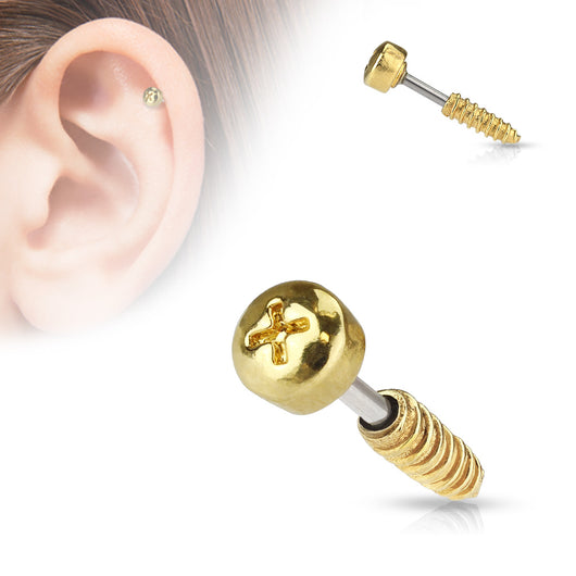 Screw Top Ear Cartilage Daith Helix Tragus Barbell