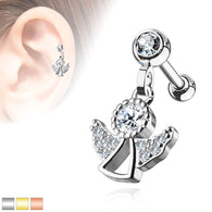 Angel Dangle Ear Cartilage Helix Daith Tragus Barbells Studs Earrings