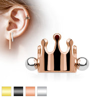 Crown Ear Cartilage Helix Cuff Barbells