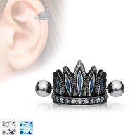Tribal Chief's Headdress Surgical Steel Cartilage Barbell Helix Cuff