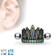 Tribal Chief's Headdress Helix Cuff Cartilage Barbell