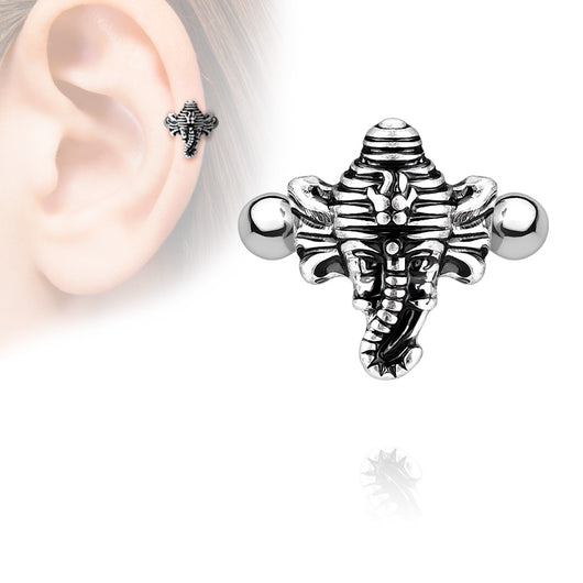 Elephant Ear Cartilage Helix Cuff Surgical Steel Barbells