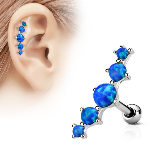 Five Opal Ear Cartilage Daith Helix Tragus Barbell
