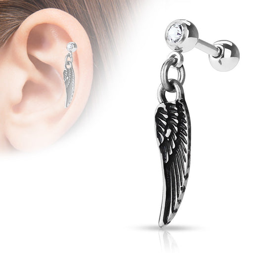 Angel Wing Dangle Surgical Steel Cartilage Helix Tragus Barbells