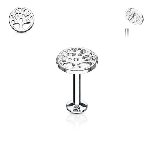 Tree of Life Internal Threaded Labret Monroe Helix Daith Tragus Studs