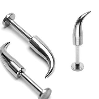 Curved Spikes 316L Surgical Stainless Steel Lip Labrets