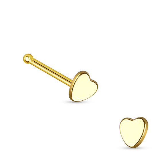 Heart Top 316L Surgical Steel Nose Studs