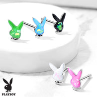 Licensed Playboy Bunny Opal Glitter Nose Bone Studs Rings