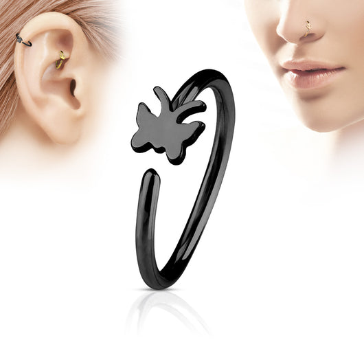 Butterfly Ear Cartilage Daith Helix Tragus Nose Rings