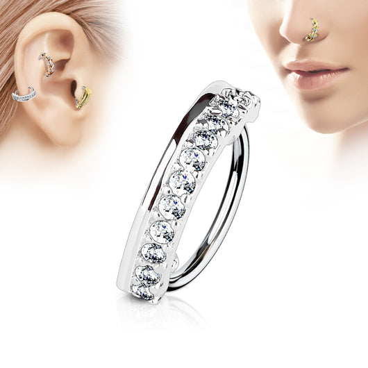 CZ Ear Cartilage Daith Tragus Helix Earrings Hoop Nose Rings