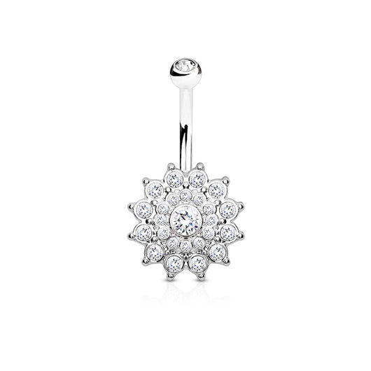 Dahlia CZ Belly Button Navel Rings