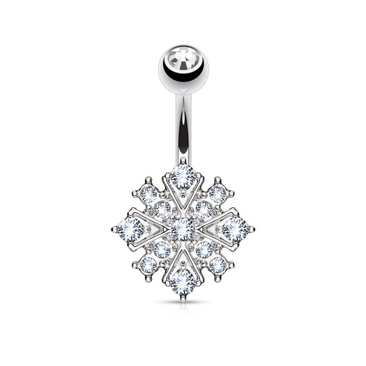 Starburst CZ Belly Button Navel Rings