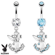 Playboy Bunny Anchor Dangle Surgical Steel Navel Belly Button Ring