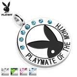 "Playboy Logo with CZ ""Playmate Of The Month"" Pendant"