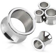Pair Surgical Stainless Steel Basic Plugs Saddle Fit Tunnels