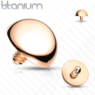10 Pc Value Pack Implant Grade Titanium Rose Gold Flat Dome Top Parts