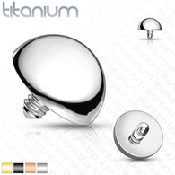 10 Pc Value Pack Solid Titanium Flat Dome Top  Dermal Anchor Top